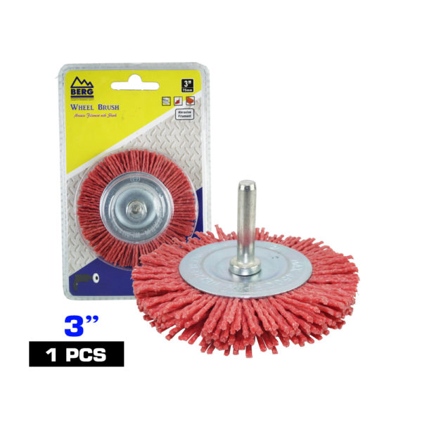 BERG 3 inch synthetic round wire brushA 2