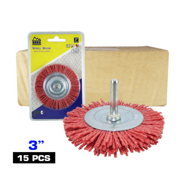 BERG 3 inch synthetic round wire brushB 1