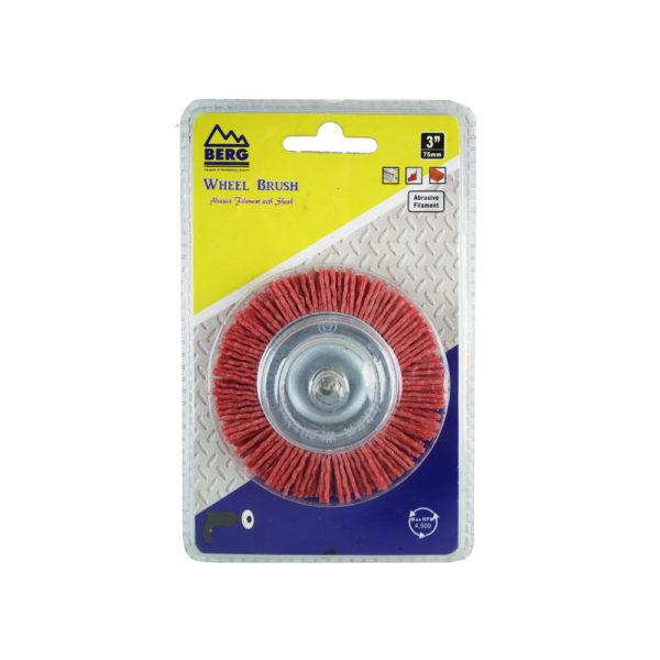 BERG 3 inch synthetic round wire brushG 7