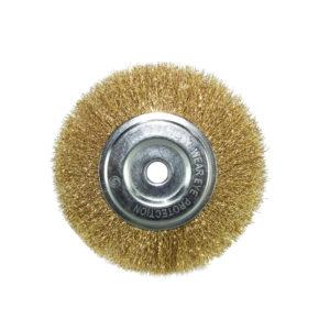 BERG Gold plated round wire brush 4 inches B 4
