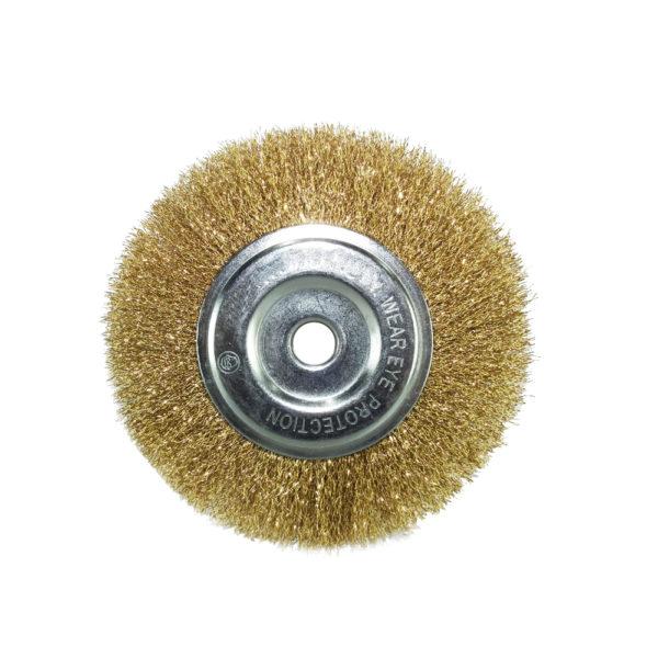 BERG Gold plated round wire brush 4 inches B 1