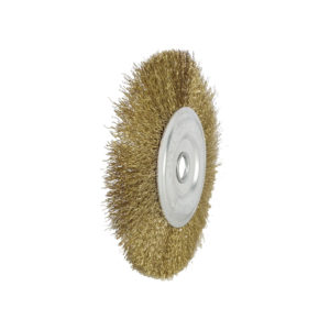 BERG Gold plated round wire brush 4 inches D 6