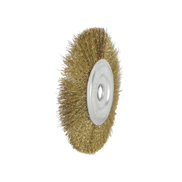 BERG Gold plated round wire brush 4 inches D 3