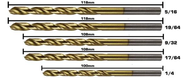BERG Steel Drill Bits E 4