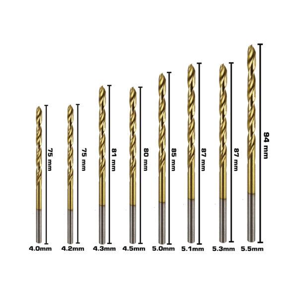 BERG Steel Drill Bits Size C 2