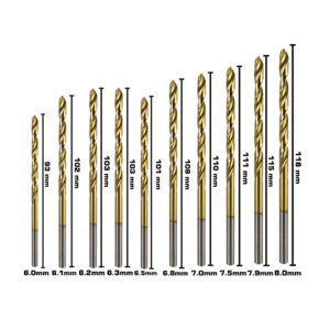 BERG Steel Drill Bits Size D 6